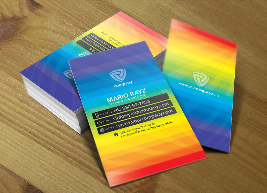 Band of color business card 01 by Lemongraphic on deviantART
