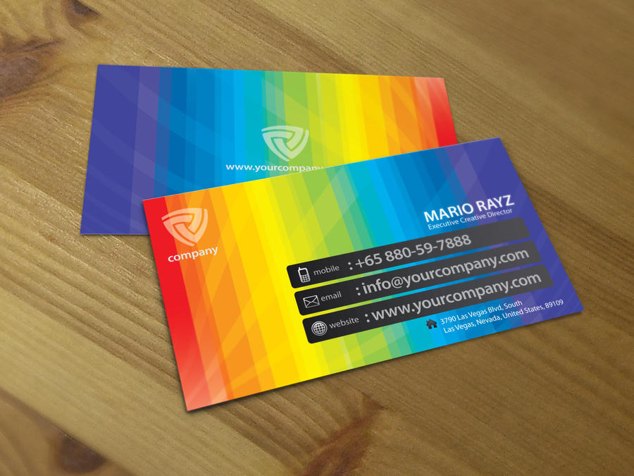 Band of color business card 02 by Lemongraphic