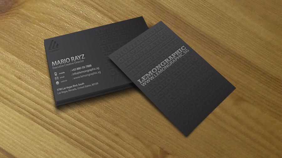 Minimalist embossed business 4 by Lemongraphic