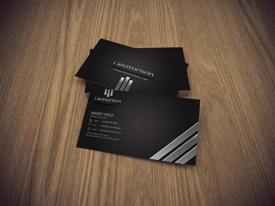Destruction Business card 03