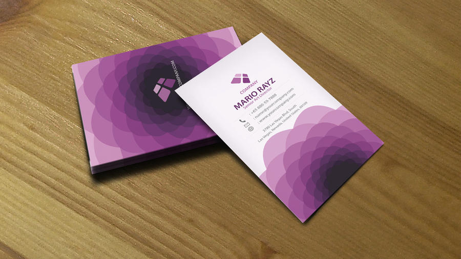 Purple flora business card 03 by Lemongraphic