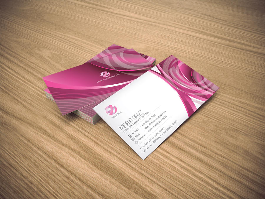 Pink Parlour Business card 02 by Lemongraphic