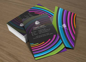Dynamic curve business card 01 by Lemongraphic