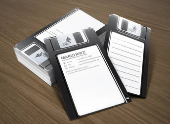 Floppy disk business card by Lemongraphic