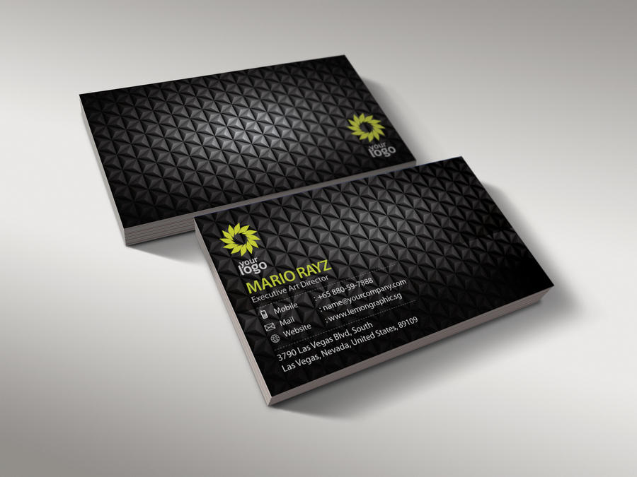 Black charcoal business card by Lemongraphic