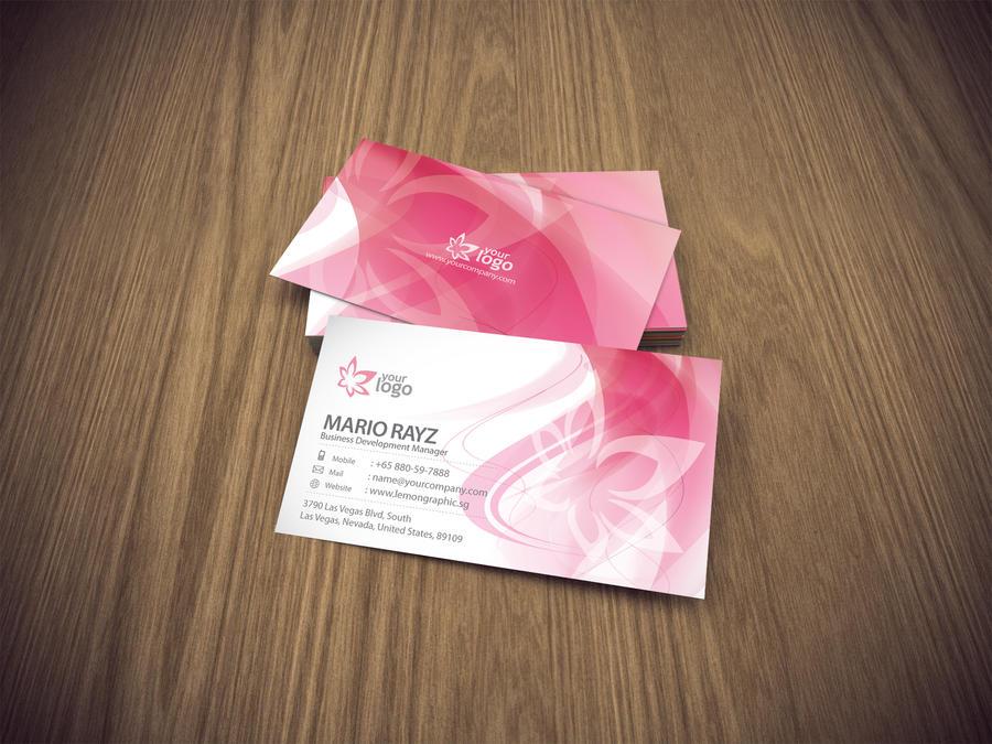 Cherry blossom business card by Lemongraphic on DeviantArt