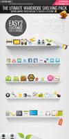 Vector shelf social icons