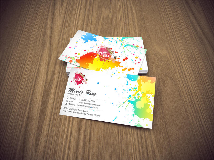Art attack business card by lemongraphic on deviantart art attack business card by lemongraphic colourmoves