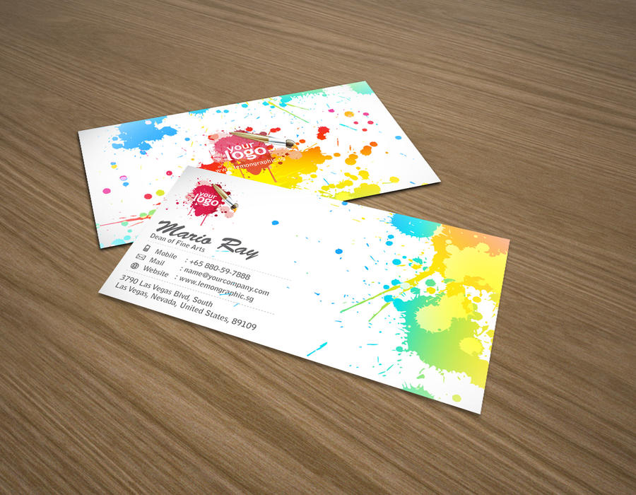 Art attack business card by Lemongraphic on DeviantArt