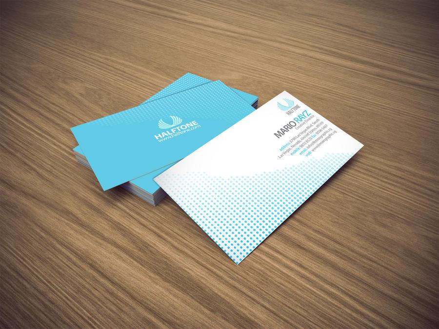 halftone business card