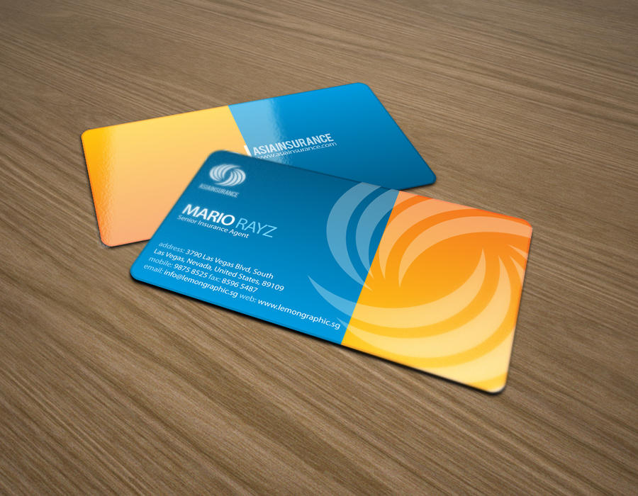 Asia insurance business card by Lemongraphic on DeviantArt