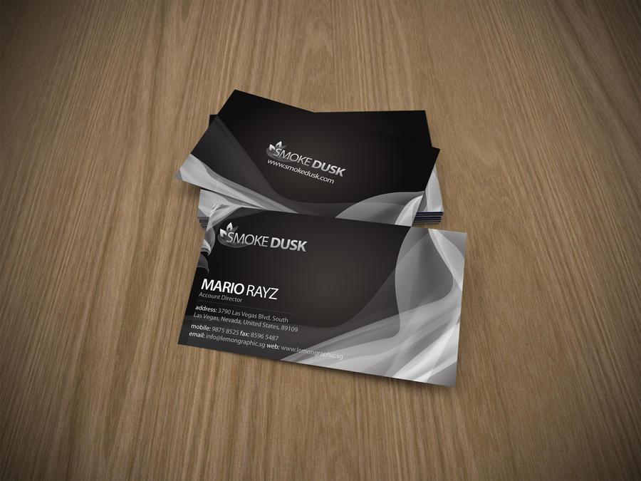 Smokedusk business card by Lemongraphic