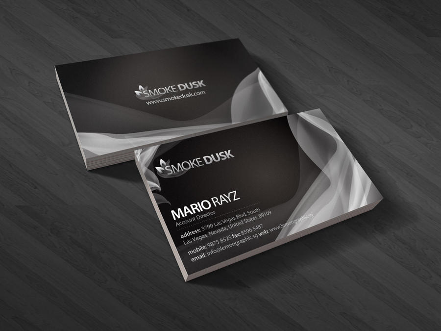 Smokedusk business card by *Lemongraphic