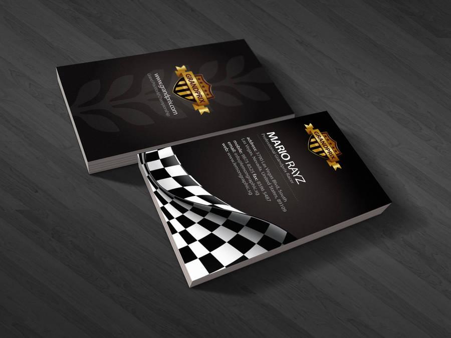 Grandprix business card by Lemongraphic