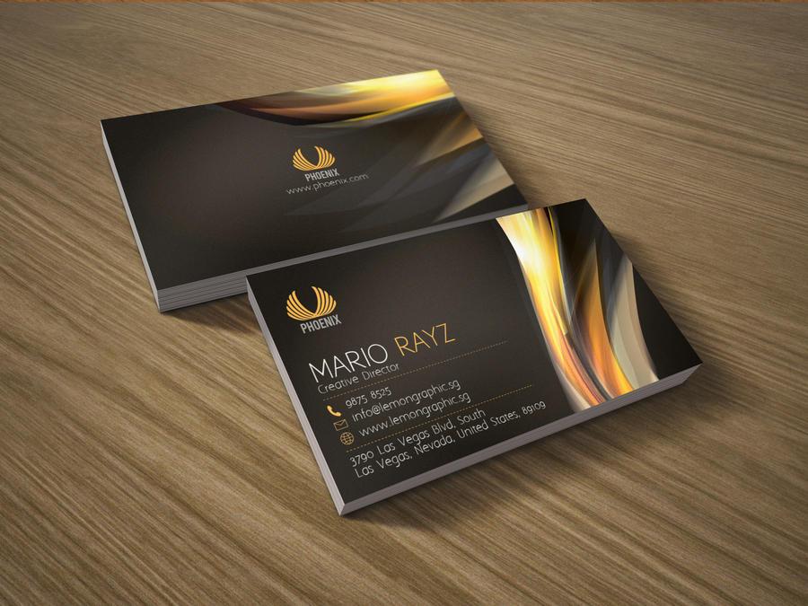 Phoenix business card by Lemongraphic on DeviantArt