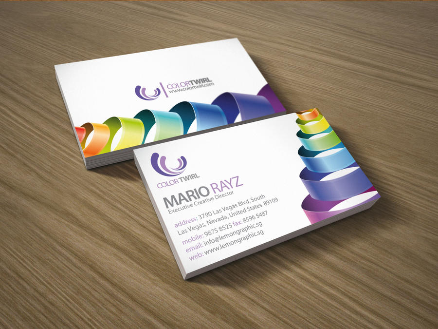 Color twirl business card by lemongraphic on deviantart color twirl business card by lemongraphic colourmoves