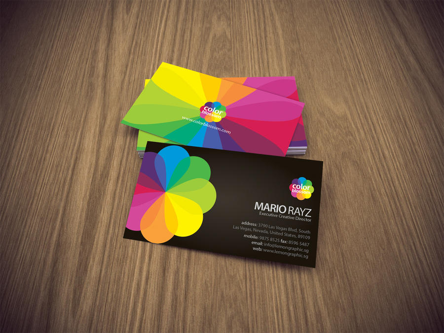 Color blossom business card by lemongraphic on deviantart color blossom business card by lemongraphic reheart Images