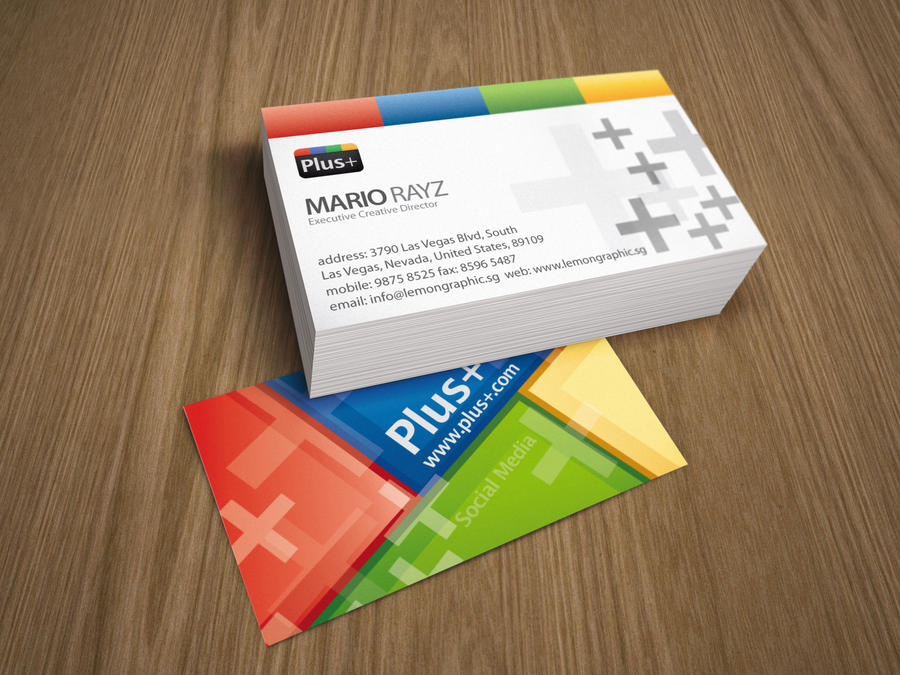 Google plus business card by Lemongraphic on DeviantArt