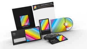 Rainbow design stationary