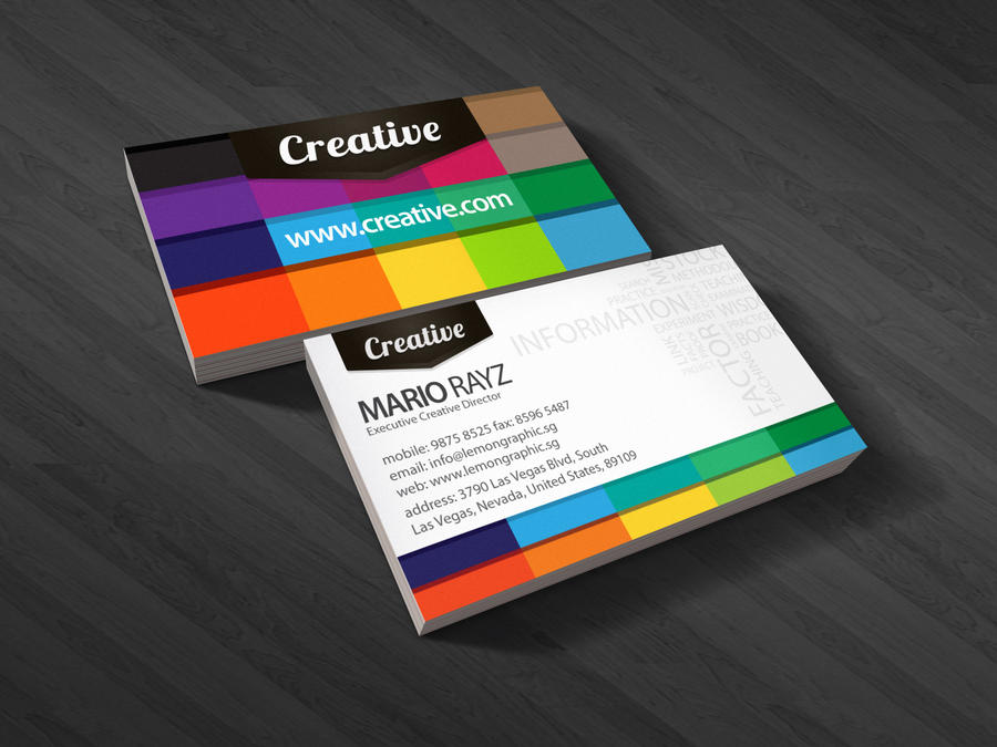 Creative business card by Lemongraphic on DeviantArt