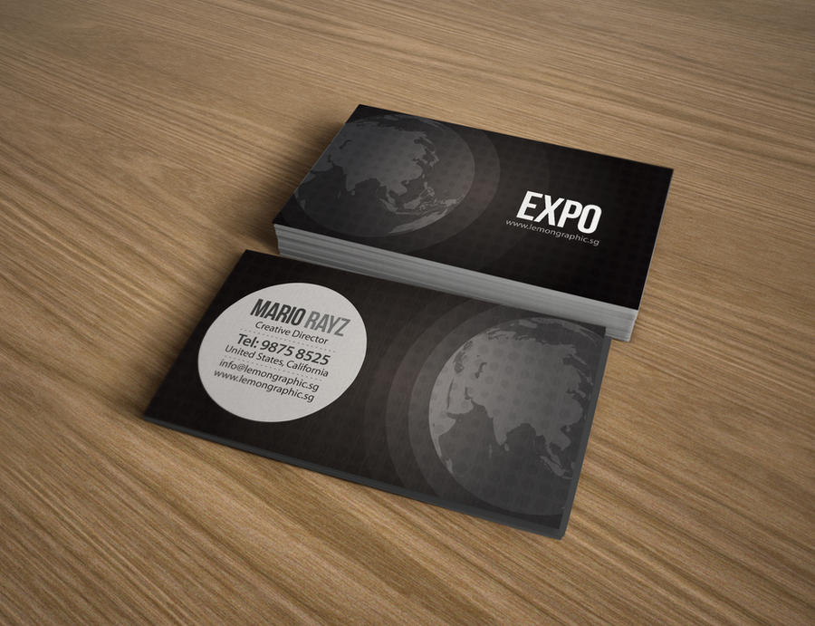 Expo Corporate Business Card by Lemongraphic