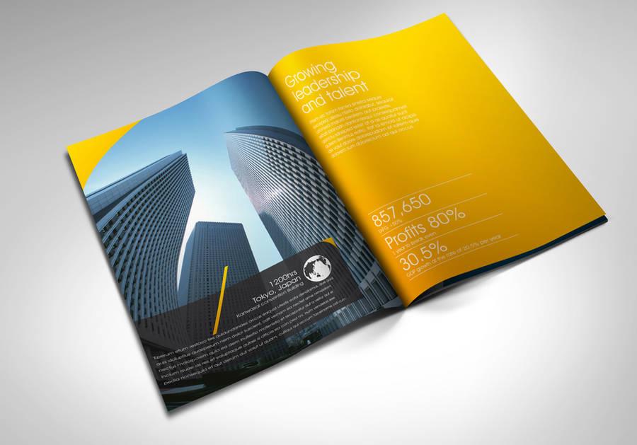 Avant garde annual report by Lemongraphic