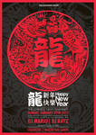 Chinese new year dragon flyer 2012