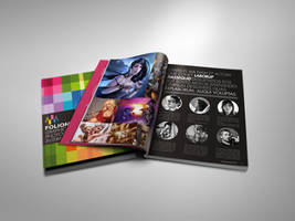 Foliomania designer portfolio brochure by Lemongraphic