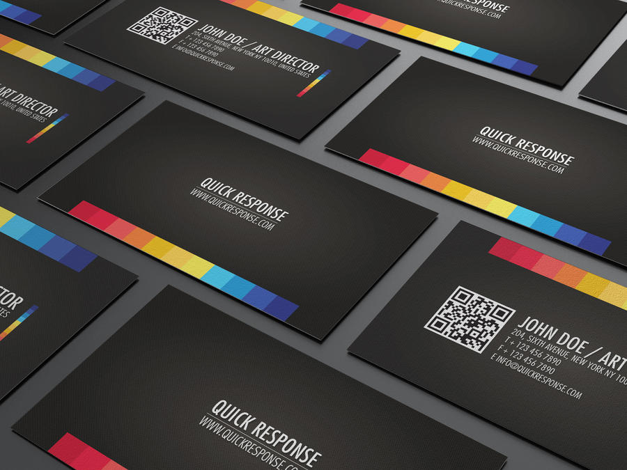 quick response business card by