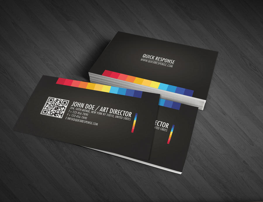Quick response business card by Lemongraphic on DeviantArt