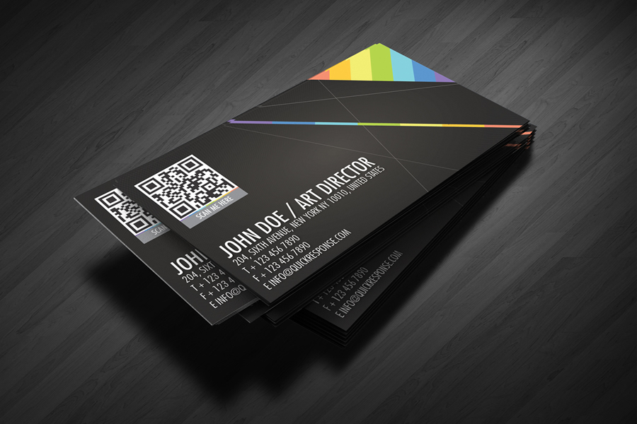 QR Quick Response business card design version 02 by