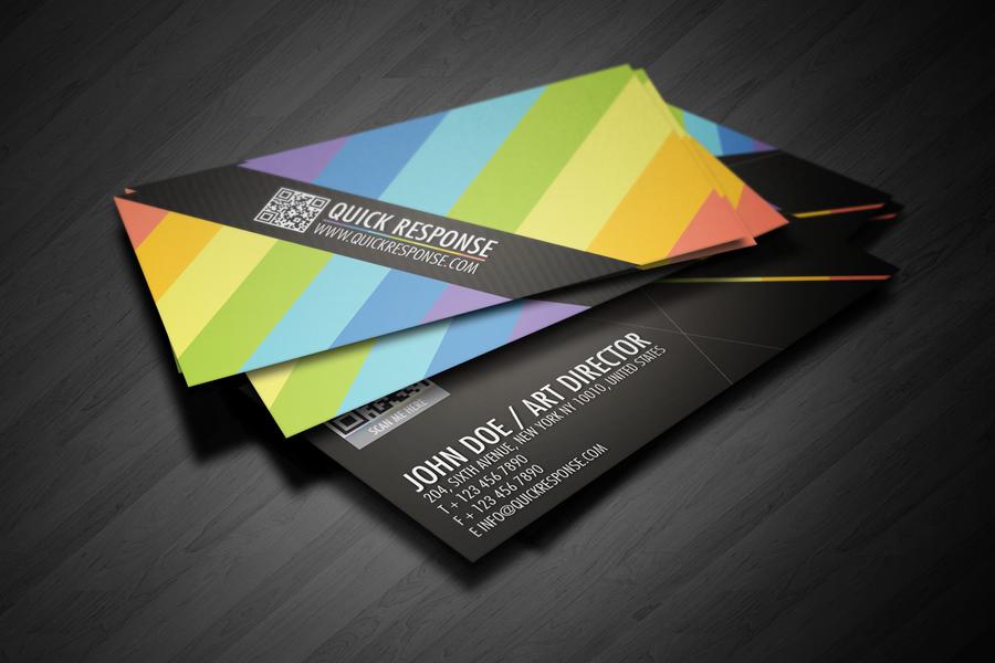 QR Quick Response business card design version 02