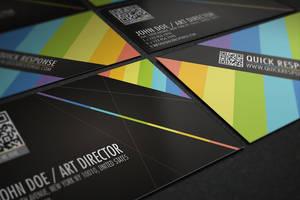 QR Quick Response business card design version 02 by Lemongraphic
