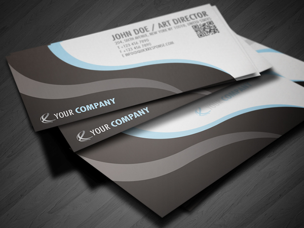 QR Quick Response business card design version 03 by