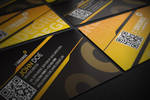 25 degree Quick Response Business Card