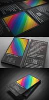 Rainbow Typography business card