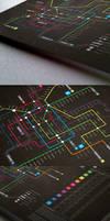 Subway infographic design elements + grid system-L by Lemongraphic