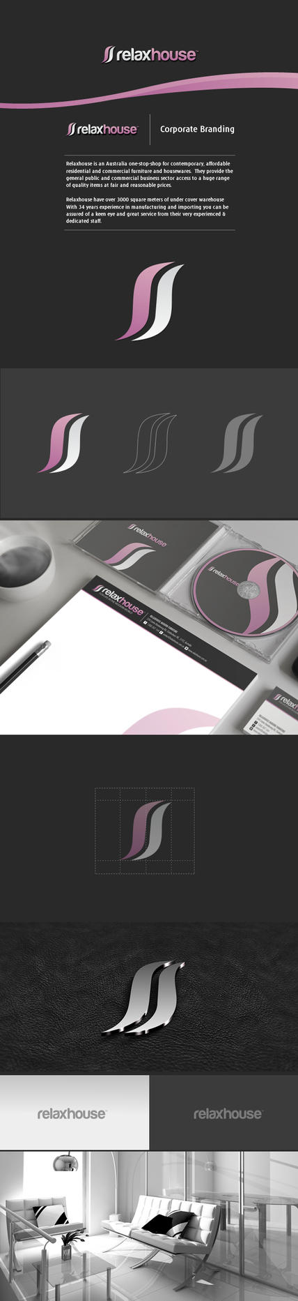 Relaxhouse Corporate identity // Branding by Lemongraphic