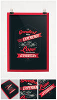 Valentine day poster card design by Lemongraphic
