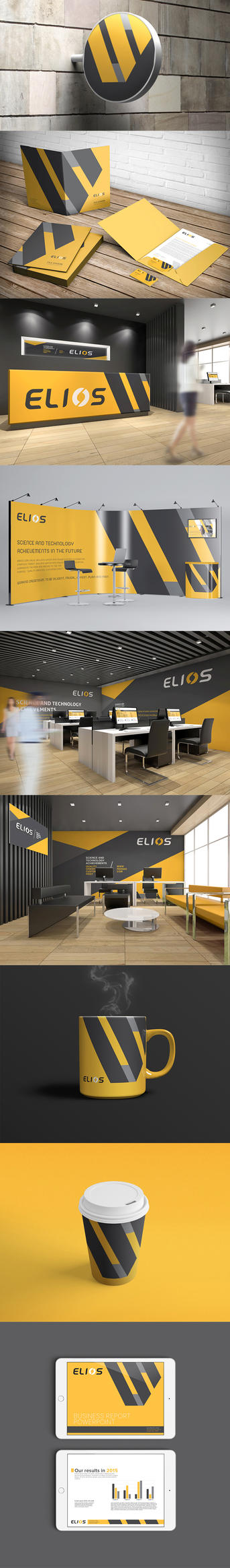 Elios Branding corporate identity by Lemongraphic
