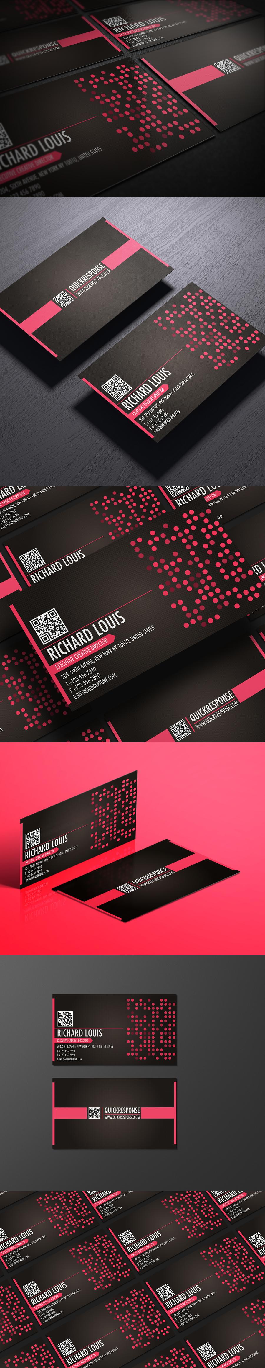 Hot pink business card design by Lemongraphic on DeviantArt