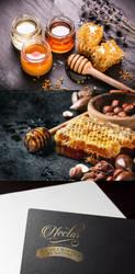 Nectar honey packaging branding by Lemongraphic