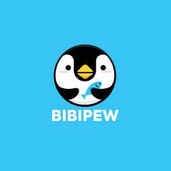Bibipew Penguin Fish Logo Design