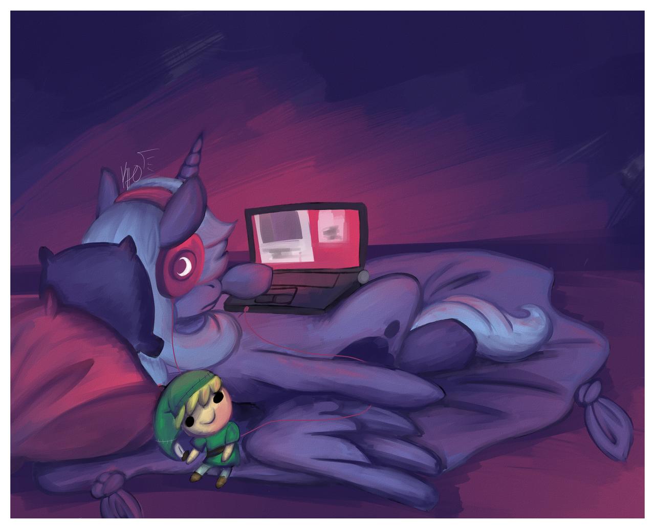 Late-Night Blogging by KaoKay