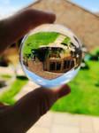 Crystal ball garden view