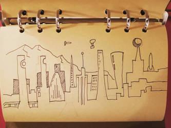 Skyline doodle