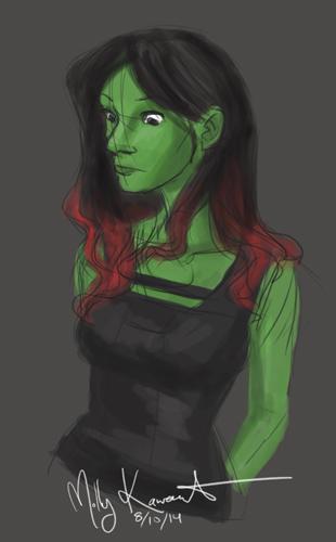 Gamora Speed Paint by MarikoRose