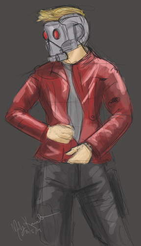 Peter Quill (aka: Star Lord) Speed Paint by MarikoRose