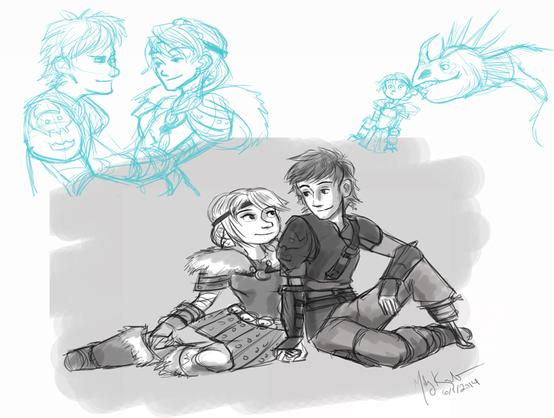 How To Train Your Dragon II Doodles by MarikoRose