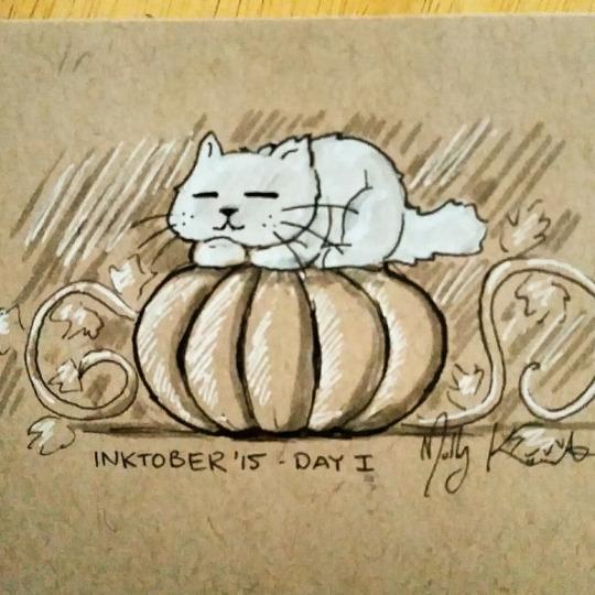 Inktober 2015- Day 1 by MarikoRose